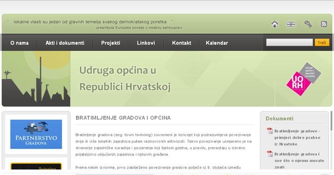 O meni primjeri web stranica